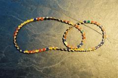 Linsenkette, Silber 925 und Acryl