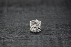 Bubble Ring, Silber 925, champagner Brillanten