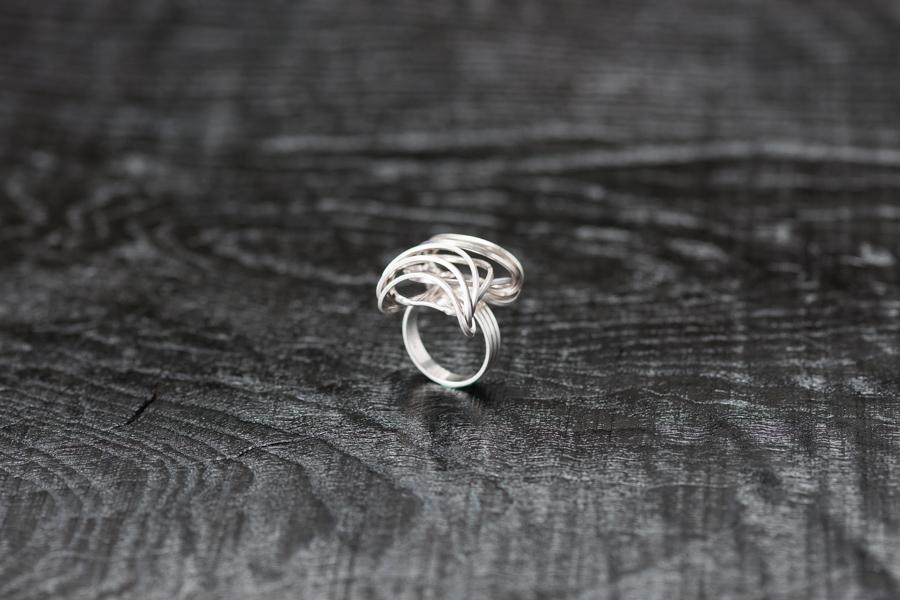 Ring Lamellen straff, Silber 925