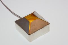 Schmucklicht 'Schachtel', Achatscheibe, Silber 925 geschwärzt, LED – Bild 3