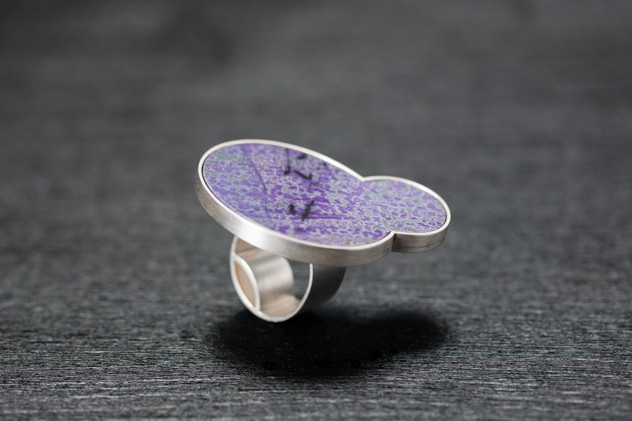 Ring, Sugilitscheibe, Silber 925