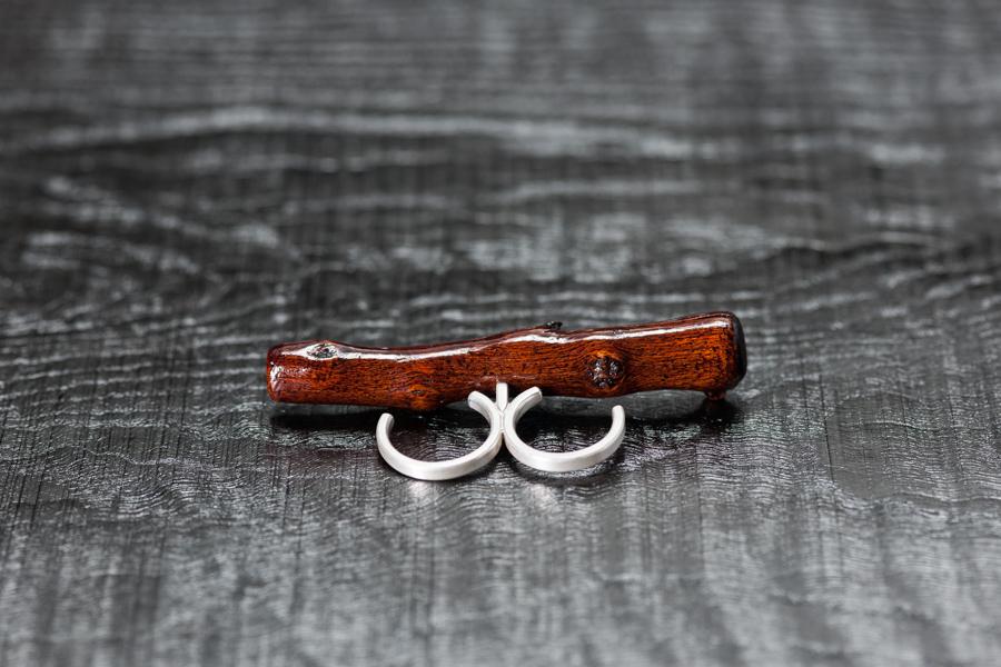 Urushi-Ring ,Stäggli' Silber 925