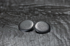 Urushi-Ohrschmuck, Ebenholzscheibe, urushi schwarz, Silber 925