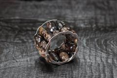 Armschmuck Lettischer Bernstein, eine Tahiti Perle, Silber 925