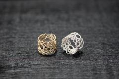 Bubble Ringe, Gold 750 und Silber 925