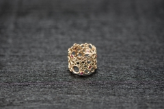 Bubble Ring, Gold 750 und Rubinchen