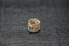 Bubble Ring, Gold 750, Safir Cabochon