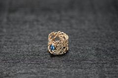 Bubble Ring, Gold 750, Safir Cabochon