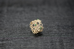 Bubble Ring, Gold 750, Tsavorit Kegel und Brillanten