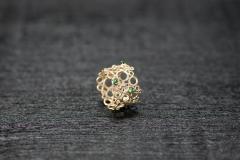 Bubble Ring, Gold 750, Tsavorit Kegel und Brillanten