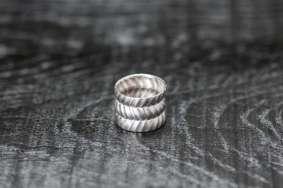 Faltring 3-Fach, Silber 925