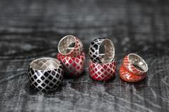 Urushi-Faltringe, Silber 925, urushi