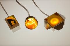 Schmucklichter, Achatscheiben und Silber 925, LED