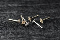 Mini Steckerli Silber 925 und Gold 750