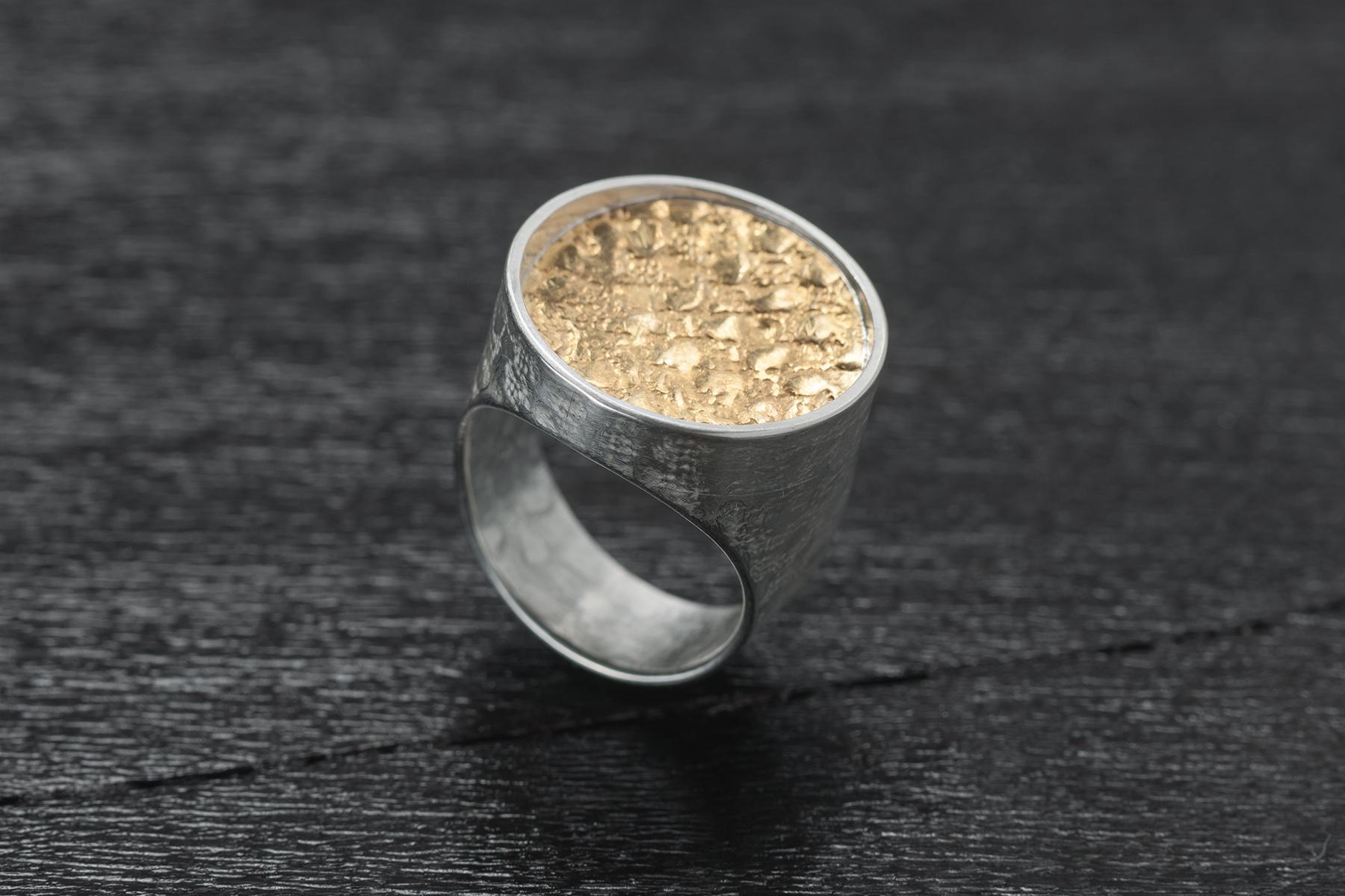 Ring Keumbo, Silber 925, 999 und Gold 999