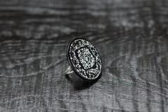Ring rankaku urushi, Wachtelei, Silber 925